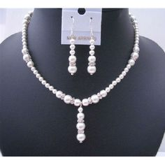 Our Bridal Handcrafted Custom Jewelry are made with Genuine Swarovski White Pearls big and small Pearls with silver rondells spacer sparkle like real diamong latest style and upcoming designs This Diy Jewelry Necklace, Necklace Designs, Pearl Jewelry, Fine Jewelry, Silver Jewelry, Necklace Set, Jewelry Making, Silver Earrings, Pearl Necklaces
