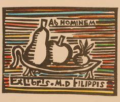 Exlibris by A. Basmadjian for Mario de Filippis
