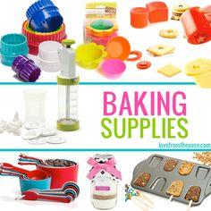 So many fun and colorful baking supplies! #baking