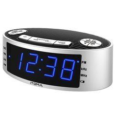 Itoma Am Fm Clock Radio With Dual Alarm