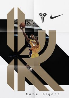 """Display typeface for basketball player Kobe Bryant. The design of the typeface was based on Ko. Design Typography, Typography Inspiration, Design Inspiration, Creative Inspiration, Design Ideas, Cl Design, Nike Design, Sport Design, House Design"