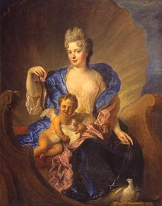 The Countess von Cosel and Her Son as Venus and Cupid, by François de Troy. Date: circa 1712-1715. North Carolina Museum of Art