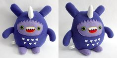Dinki - Monchi Monster Plush by yumcha.deviantart.com. i want him