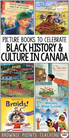 Oh Canada! Looking for black history books for kids? Check out this picture book list. These read alouds explore Canadian black history and culture. Great for black history month or any time of the year. History Books For Kids, Black History Month Activities, Black History Books, Black Books, Black History Month Canada, Black Canadian History, Black Canadians, Black Authors, Before Us