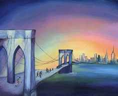 Commission piece for Manon Kids Room Art, Art For Kids, Baby Boy Rooms, Brooklyn Bridge, Travel, Drawings, Art For Toddlers, Viajes, Art Kids