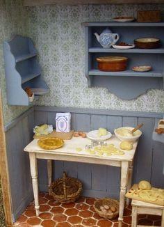 Miniature kitchen scene