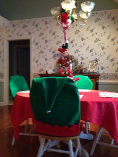 Elf Chair Covers I Made Last Night