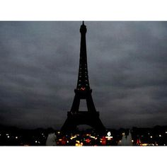Paris Turns Off Its Lights As Eiffel Tower Goes Dark in Memory of Terror Victims As N.Y.C. Pays Its Own Tribute found on Polyvore