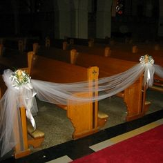 wedding decorations church aisle | Church Pew D cor Product Code WD31 Price listed is per pew