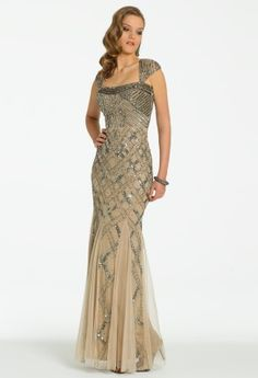 Long Sequin Mesh Dress with Godets from Camille La Vie and Group USA #homecoming #prom