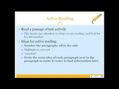 PowerPoint to show students on how to annotate a text