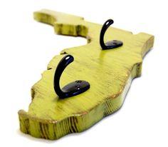 FLORIDA custom key hooks wood wall art home decoration Avocado or you choose. $42.00, via Etsy.