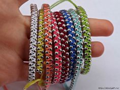 "Friendship Bracelets: ""Theyyyyy'rrrreee back. Well, maybe they never left, but friendship bracelets are definitely a hit once again. Perfect for a lazy afternoon project, gifts for friends or just a new hobby, here are a few of our favorite ideas to get you inspired."""