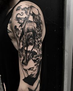 Dali's dream with elephant tattoo sleeve by @monika_malewska