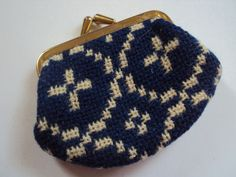 Vintage Small Blue & White TAPESTRY Coin Purse : NEW | eBay