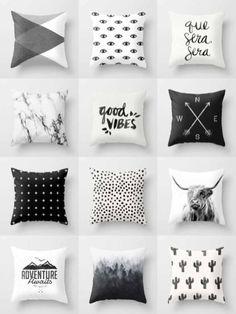 Black & White Throw Pillows - is home to hundreds of thousands of artists from around the globe, uploading and selling their original works as premium consumer goods from