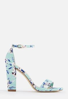 602b8a6fc14d JustFab Makemba Heeled Sandal Womens Floral Size Standard Width Sandals  Outfit