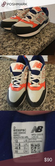 New Balance sneakers never worn! Blue and orange. Never been worn! Perfect condition New Balance Shoes Sneakers
