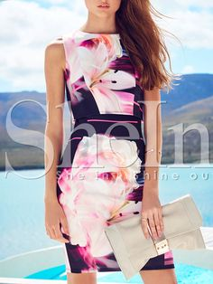 Shop Multicolor Sleeveless Floral Dress online. SheIn offers Multicolor Sleeveless Floral Dress & more to fit your fashionable needs.