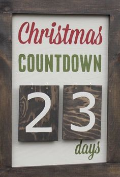 Christmas Countdown, Numbers, Home Decor, Decoration Home, Room Decor, Home Interior Design, Home Decoration, Interior Design
