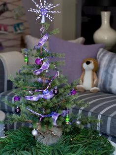 The holiday experts at HGTV.com share fun tabletop kids' Christmas tree decorating ideas.