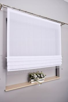Cream Curtains, Curtains With Blinds, Window Treatments Living Room, Living Room Windows, Diy Blinds, Shades Blinds, Curtain Designs, Kitchen Curtains, Home Projects