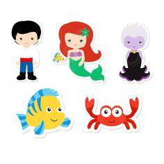 Kawaii Disney, Little Mermaid Parties, The Little Mermaid, Scrapbook Da Disney, Dibujos Toy Story, Disney Villains, Disney Characters, Disney Classroom, Kids Nursery Rhymes