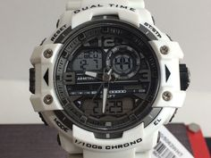 Armitron Sport Men's Watch 20/5062 Analog-Digital Chronograph Resin Strap White #ArmitronSport