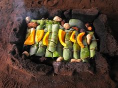 Them Samoans cook  in a fire pit called a Umu, it has hot rocks and food wrapped in Taro leaves!