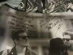 signed lyrics from the maine concert in orlando!
