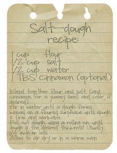 Salt Dough Recipe for home made ornaments