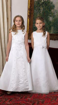Ideas para escoger vestidos de comunión. ¿Cómo acertar? Los hay sencillos con un aire clásico y aniñado, están los vestidos de comunión glamurosos.