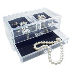 Ikee Design Acrylic Jewelry and Cosmetic Storage Display Box