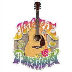 Hippie Birthday Cut-Out Greeting Card
