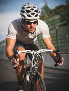 Find more than sports photos to use in fitness, travel, and lifestyle design projects. This collection of sports photos includes images of team sports as well as fitness activities like hiking, camping, and working out. Bicycle Helmet, Bike, Cycle Ride, Fitness Activities, Sports Photos, Portrait, Cycling, Action, Poses