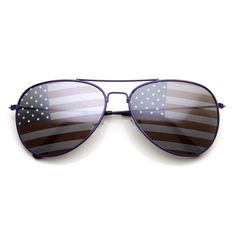 ecc07ab5a60 American Flag USA Classic Teardrop Metal Aviator Sunglasses