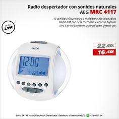 ¡No hay nada mejor que un buen despertar! Radio despertador AEG MRC 4117 http://www.electroactiva.com/aeg-despertador-mrc4117-blanco.html #Elmejorprecio #Chollo #Despertador #Electronica #PymesUnidas