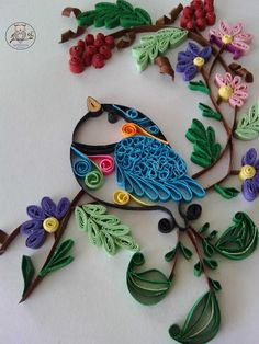 #mozyden #quilling #bird https://www.facebook.com/mozyden/photos/pcb.1039461906087168/1039461059420586/?type=3&theater