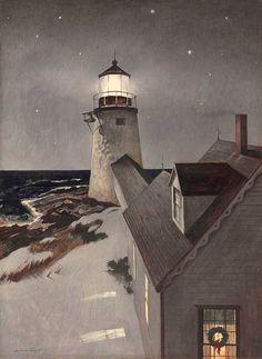 Andrew Wyeth (American, 1917-2009) Snowy Morning, c.1947. Tempera on panel.