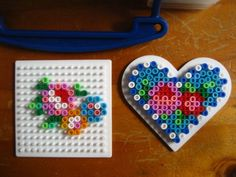 Hama beads for mums. Pretty heart with flowers