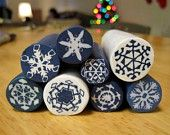 How to make a Fimo cane with snowflake pattern: Polymer clay tutorial