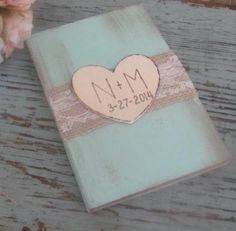 Wedding Guest Book - Bridal Shower Guest Book - Shabby Chic - Personalized on Etsy, $23.99