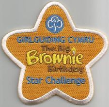 Girl guide Girlguiding Wales Big Brownie Birthday Star Challenge Centenary Badge