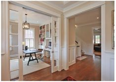 Pocket French Door to shut off the dining room from living room