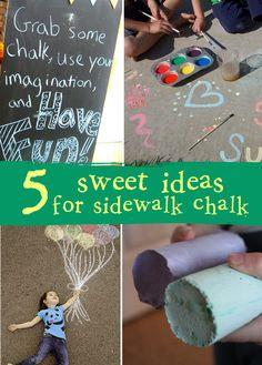 Sidewalk Chalk Recipes | creative gift ideas