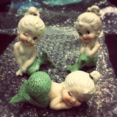 SIREN SONG — mallorylucille: Bought myself an early Christmas. Mermaid Bathroom, Mermaid Room, Baby Mermaid, The Little Mermaid, Kitsch, Kawaii, Mermaid Fairy, Mermaid Lagoon, Mermaids And Mermen