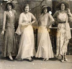 Early 1930s - an abundance of lace and chiffon