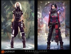 Joshua Calloway is creating Concept Art for Epocholypse Character Concept, Character Art, Concept Art, Character Design, Character Reference, Fantasy Women, Fantasy Art, Mode Cyberpunk, Cyberpunk Clothes
