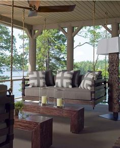 Back Sleeping Porch Ideas With Swings and Fireplaces - Kid Friendly Things To Do .com | Kid Friendly Things to Do.com - Family Recipes, Crafts, and Fun Foods