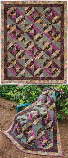 SPICED PLUM BATIK QUILT KIT